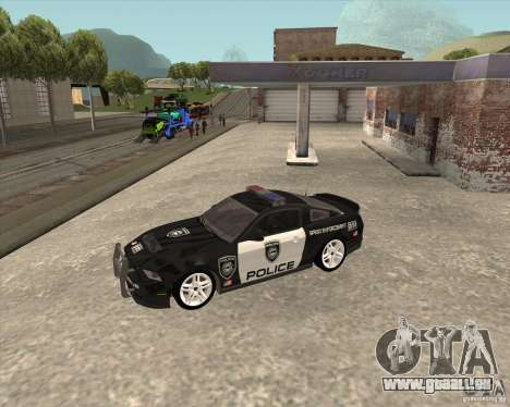 Ford Shelby GT500 2010 Police pour GTA San Andreas vue arrière