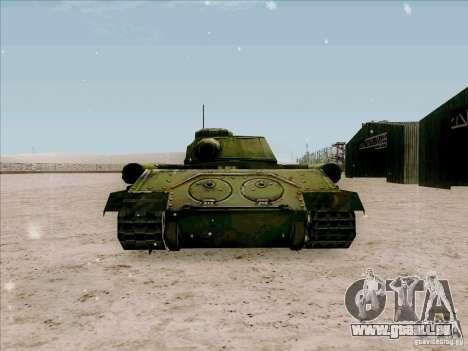 T-34 pour GTA San Andreas sur la vue arrière gauche