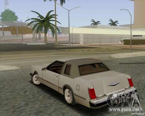 Virgo Continental pour GTA San Andreas laissé vue