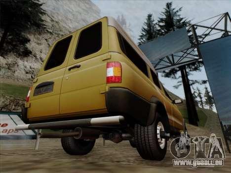 UAZ 2760 für GTA San Andreas Unteransicht