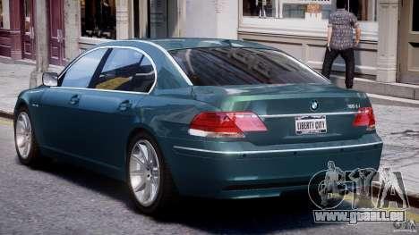 BMW 7 Series E66 pour GTA 4 vue de dessus