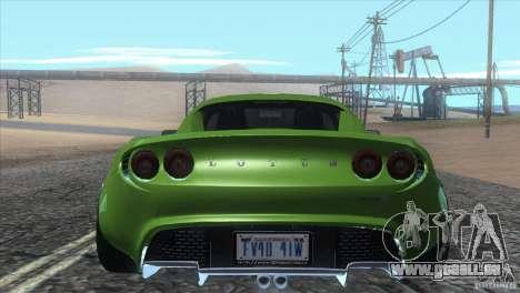 Lotus Elise für GTA San Andreas Seitenansicht