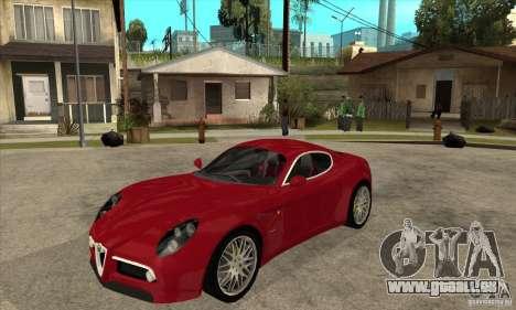 Alfa Romeo 8 c Competizione stock pour GTA San Andreas