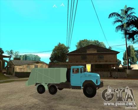 Camion à ordures ZIL 131 pour GTA San Andreas vue de droite