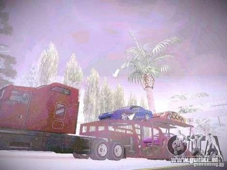 Auto Transporter Trailer für GTA San Andreas rechten Ansicht