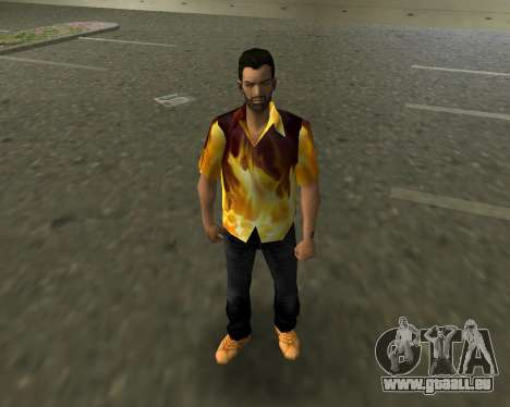 Shirt mit Flammen für GTA Vice City