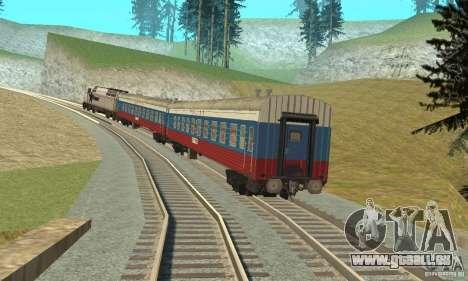 La voiture des chemins de fer russes Russie pour GTA San Andreas