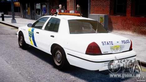 Ford Crown Victoria New Jersey State Police pour GTA 4 est un droit