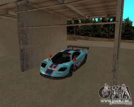McLaren F1 pour GTA San Andreas vue intérieure