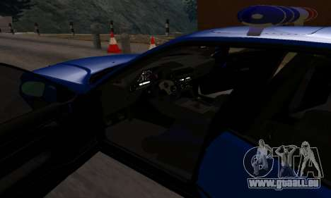 BMW M5 POLICE pour GTA San Andreas vue de côté
