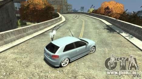 Audi S3 2009 pour GTA 4 vue de dessus