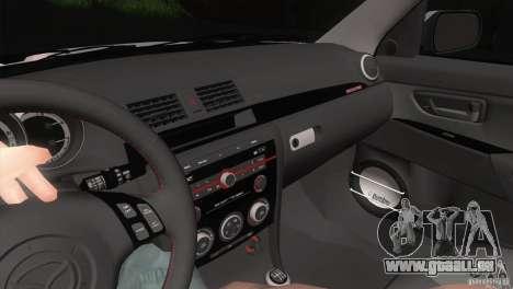 Mazda MazdaSpeed 3 pour GTA San Andreas vue de côté