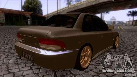 Subaru Impreza 22 pour GTA San Andreas vue de droite