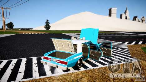 Dodge Diplomat 1983 Police v1.0 pour GTA 4 vue de dessus