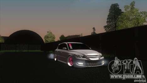 Mazda MazdaSpeed 3 pour GTA San Andreas vue de droite