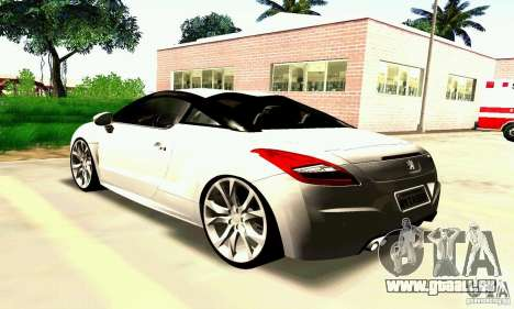 Peugeot Rcz 2011 pour GTA San Andreas salon