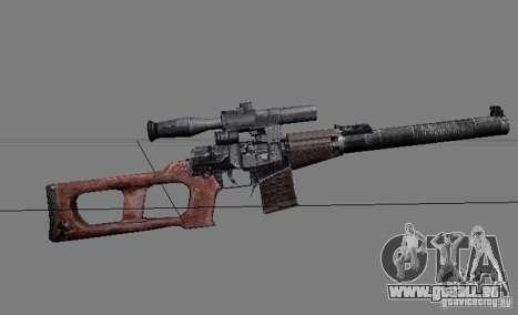 Eine Reihe von Waffen aus einem stalker für GTA San Andreas neunten Screenshot