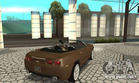Chevrolet Camaro Concept 2007 pour GTA San Andreas sur la vue arrière gauche