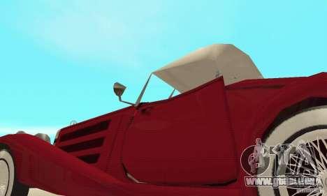 Mercedes-Benz 500K für GTA San Andreas Unteransicht