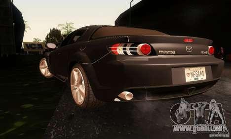 Mazda RX-8 Tuneable pour GTA San Andreas laissé vue