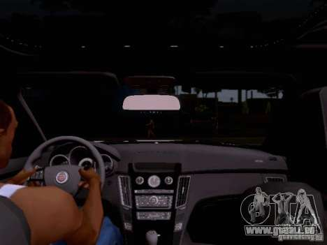 Cadillac CTS-V 2009 für GTA San Andreas obere Ansicht
