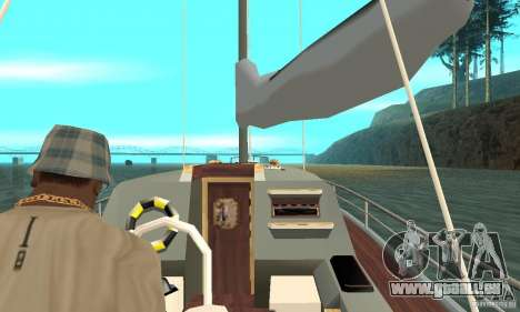 Marquis Segelyacht 09 Textures für GTA San Andreas Rückansicht