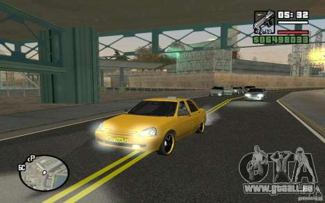 VAZ Lada Priora Taxi für GTA San Andreas