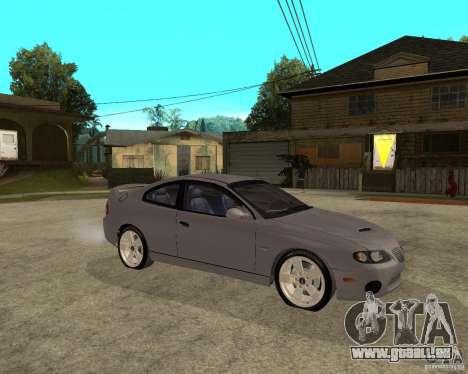 2005 Pontiac GTO für GTA San Andreas rechten Ansicht