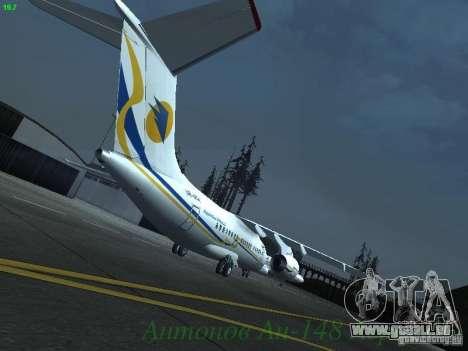 Antonow an-148 Aerosvit Ukrainian Airlines für GTA San Andreas rechten Ansicht