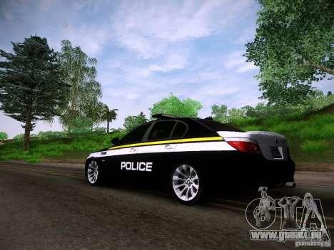 BMW M5 E60 Police für GTA San Andreas linke Ansicht