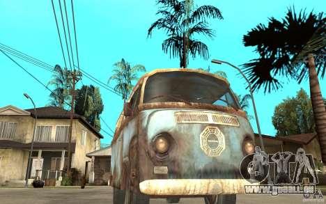 Dharma-Van (VW Typ 2 T2a) für GTA San Andreas Rückansicht