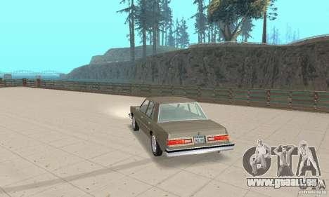 Dodge Diplomat 1985 v2.0 pour GTA San Andreas laissé vue