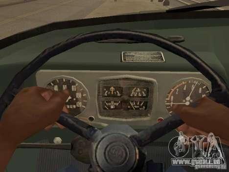 ZIL 131 camion pour GTA San Andreas vue intérieure