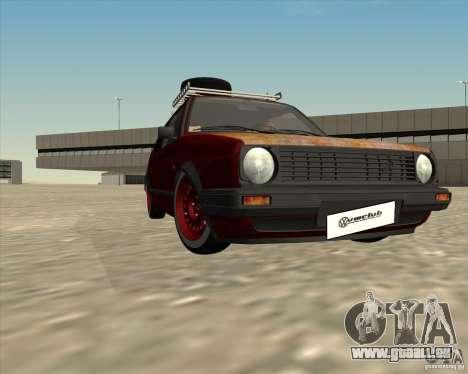 VW Golf II Shadow Crew pour GTA San Andreas vue de dessus