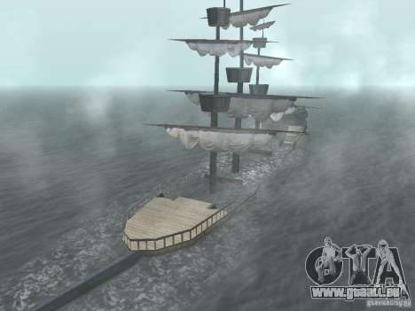 Bateau pirate pour GTA San Andreas sixième écran