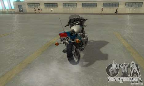 Kawasaki KZ1000 MFP für GTA San Andreas rechten Ansicht