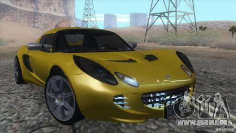 Lotus Elise für GTA San Andreas Rückansicht