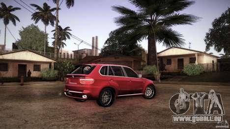 BMW X5 with Wagon BEAM Tuning pour GTA San Andreas vue de dessous