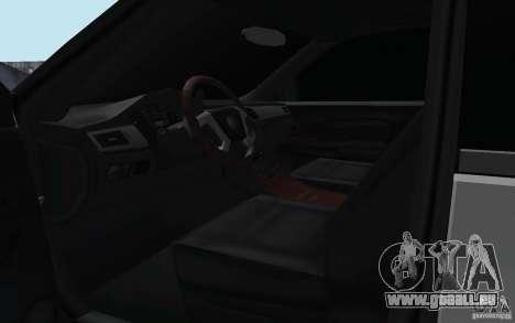 Cadillac Escalade 2008 Limo pour GTA San Andreas vue intérieure