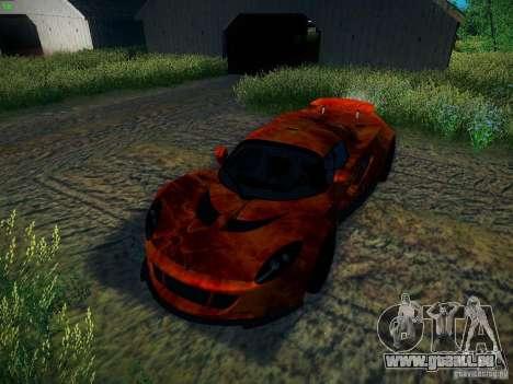 Hennessey Venom GT Spyder pour GTA San Andreas vue de dessous