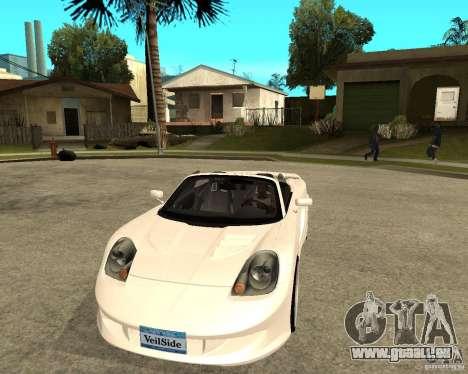 Toyota MRS2 Veilside pour GTA San Andreas vue arrière