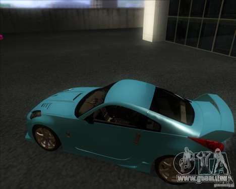 Nissan 350Z 2004 für GTA San Andreas zurück linke Ansicht