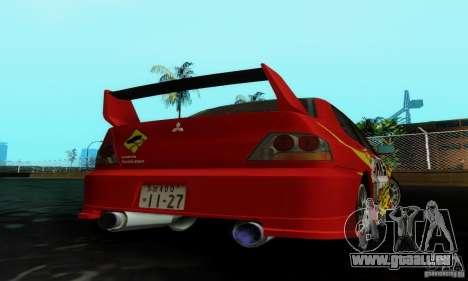 Mitsubishi Lancer Evolution IX pour GTA San Andreas laissé vue