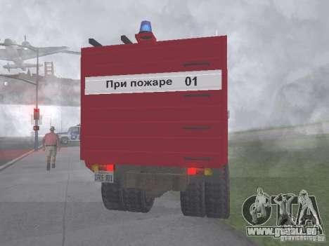 Feu GAZ 3309 pour GTA San Andreas sur la vue arrière gauche