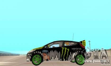 Ford Fiesta 2011 Ken Blocks für GTA San Andreas zurück linke Ansicht