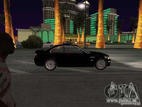 BMW M3 GT-R Stock pour GTA San Andreas vue arrière