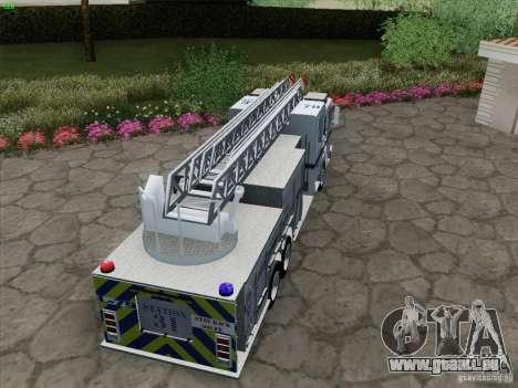 Pierce Puc Aerials. Bone County Fire & Ladder 79 für GTA San Andreas Innenansicht