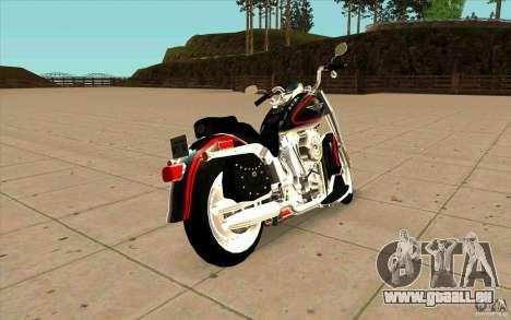 Harley Davidson FatBoy (Terminator 2) pour GTA San Andreas sur la vue arrière gauche
