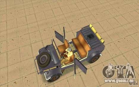 Kuebelwagen v2.0 normal pour GTA San Andreas vue de droite