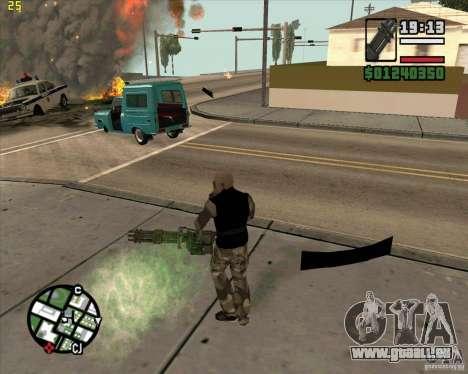 Minigun de Call of Duty Black Ops pour GTA San Andreas deuxième écran